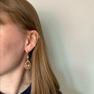 Givenchy Jewelry - Givenchy Teardrop Rose Gold Statement Earrings